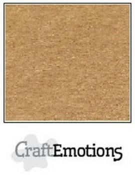 CraftEmotions Cardstock in 12''x12'' - Hellbraun