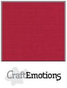 CraftEmotions Cardstock in 12''x12'' - Weihnachtsrot - LC-07