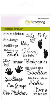 CraftEmotions - Texte Baby