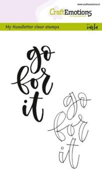 CraftEmotions - Handletter - go for it
