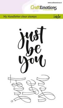 CraftEmotions - Handletter - just be you