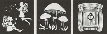 FolkArt - Stencil Fairies & Mushrooms