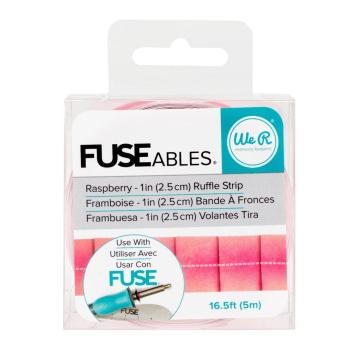 We R Memory Keepers FUSEables Ruffle Tape - Raspberry