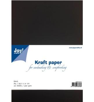 Joy!Crafts 20 Bögen in DIN A4 (300g/m²) - Schwarz