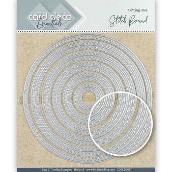 Card Deco Essentials Cutting Dies - Stitch Round