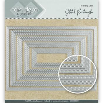 Card Deco Essentials Cutting Dies - Stitch Rectangle