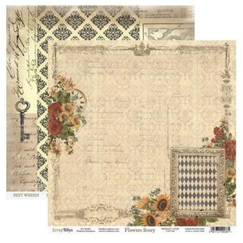 Scrapbooking Single Paper 12'' x 12'' - Flowers Story 03
