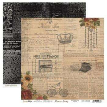 Scrapbooking Single Paper 12'' x 12'' - Flowers Story 04