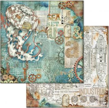 Stamperia Designpapierblock - Mechanical Sea World 12'' x 12''  - Ausstellungsstück!!!