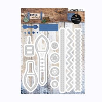 Studio Light Embossing Die - Denim Saturdays Nr 136
