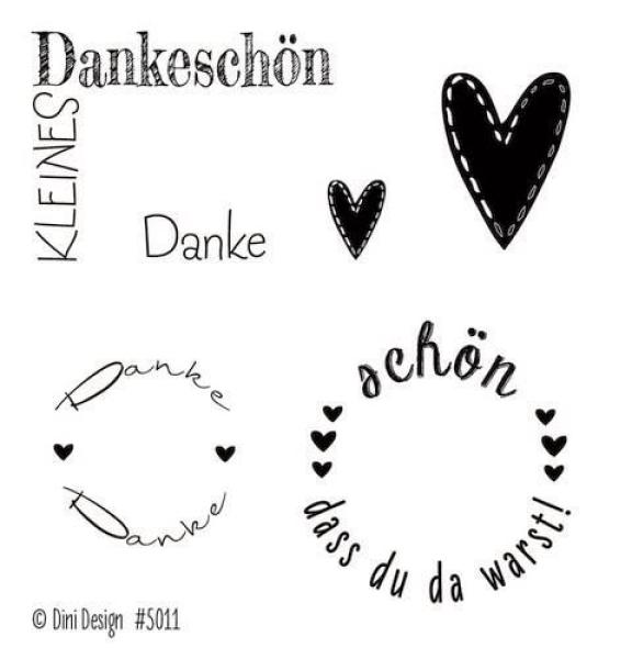 Dini Design - Clearstamps Danke (DE) #5011