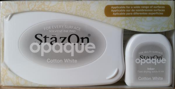StazOn - Opaque Cotton White Set - (deckendes Weiss)