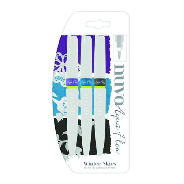 Nuvo Aqua Flow Pens - Winter Skies