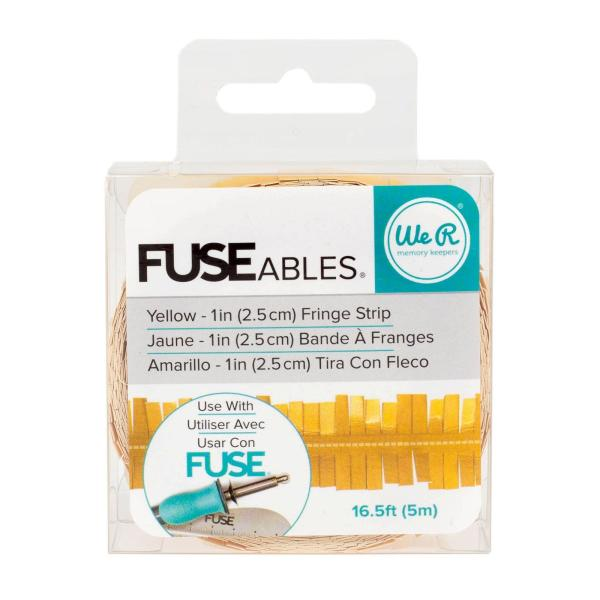 We R Memory Keepers FUSEables Fringe Strip - Yellow