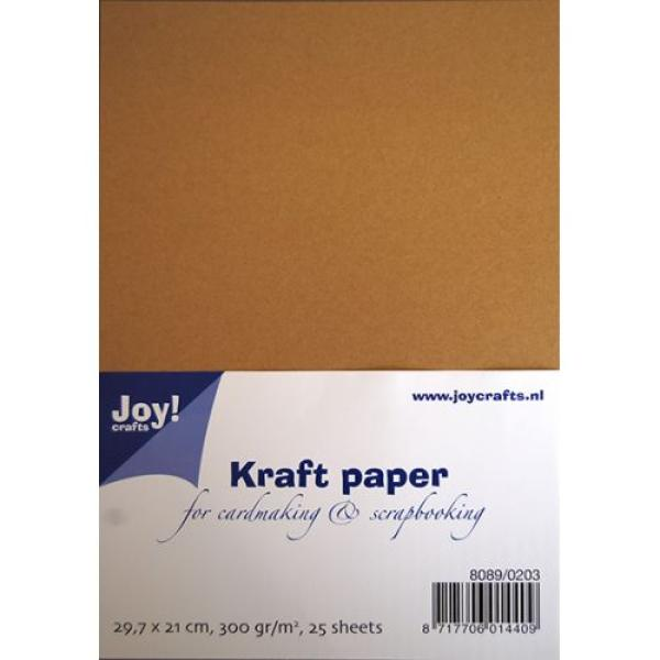 Joy!Crafts Kraftpapier 25 Bögen in DIN A4 (300g/m²)