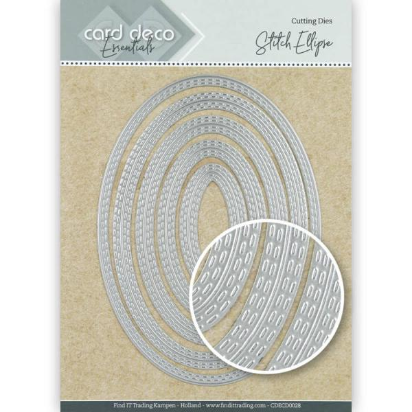 Card Deco Essentials Cutting Dies - Stitch Ellipse