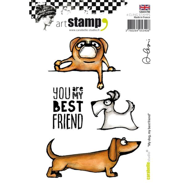 Carabelle stamp A6 my Dog, my best Friend